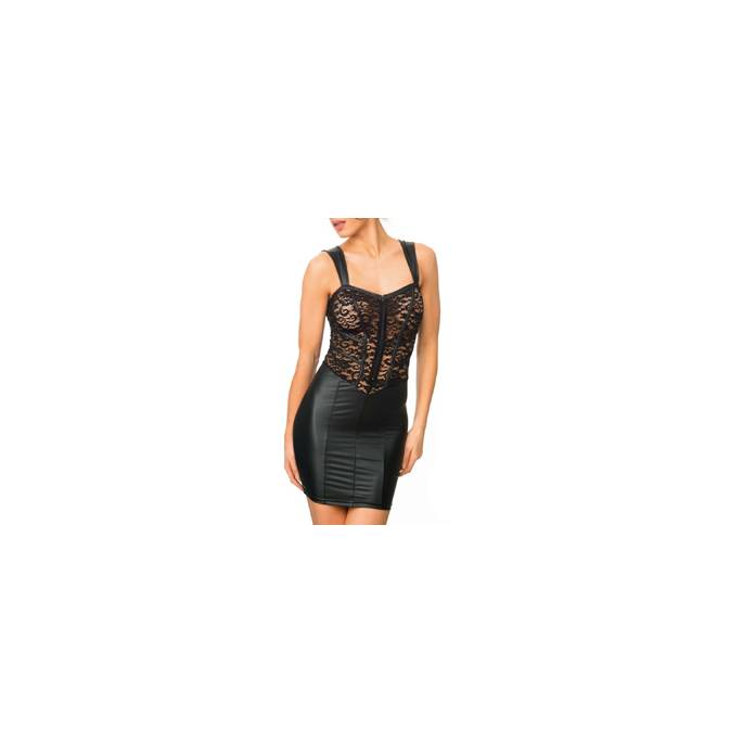 ROBE WETLOOK ET DENTELLE + ZIP