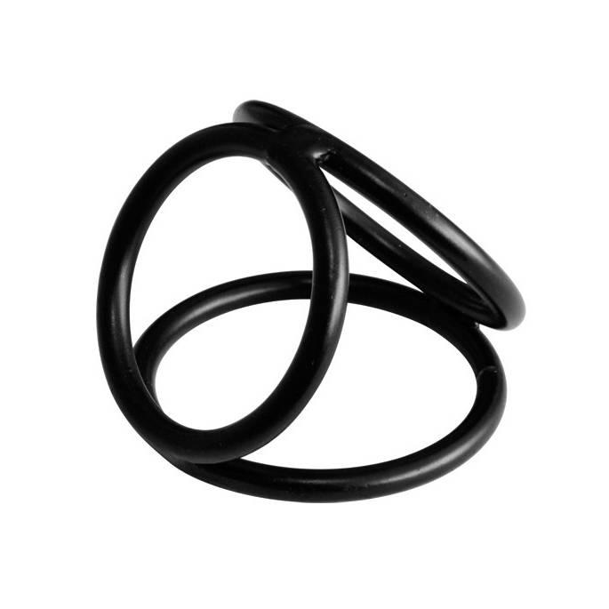 TRIPLE RINGS METAL NOIR 50mm