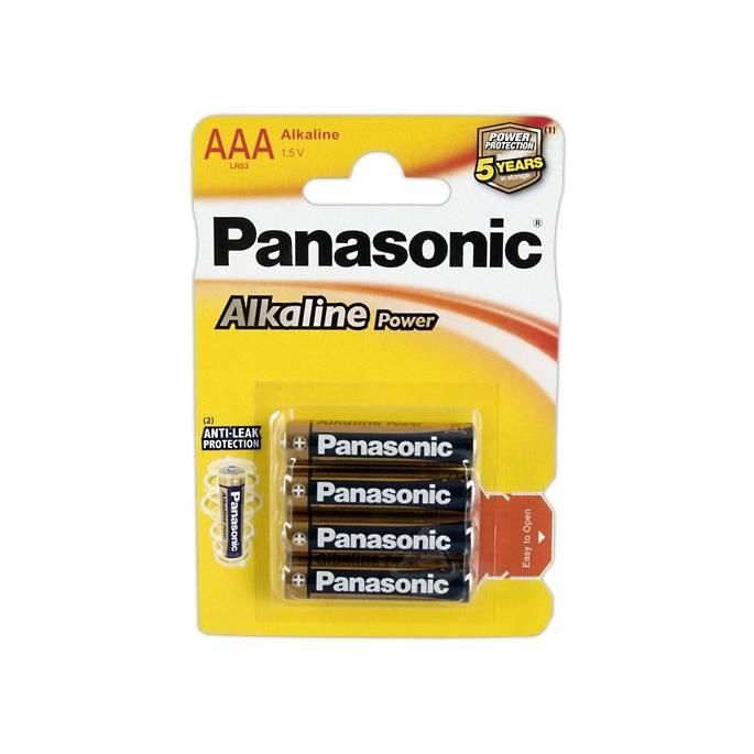 4 PILES AAA PANASONIC