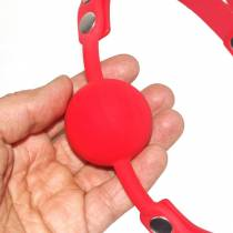 BAILLON BOULE SILICONE ROUGE