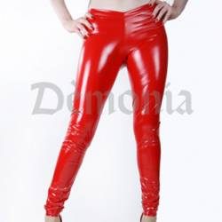 LEGGING VINYLE STRETCH ROUGE