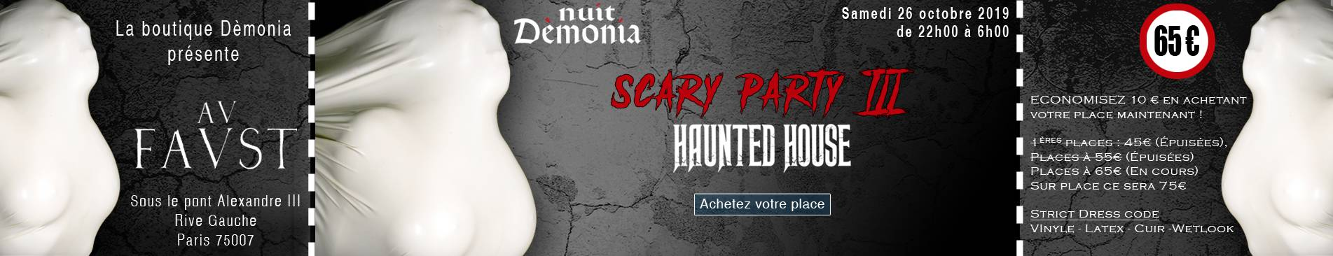 Nuit Dèmonia Scary Party III - 26 octobre 2019